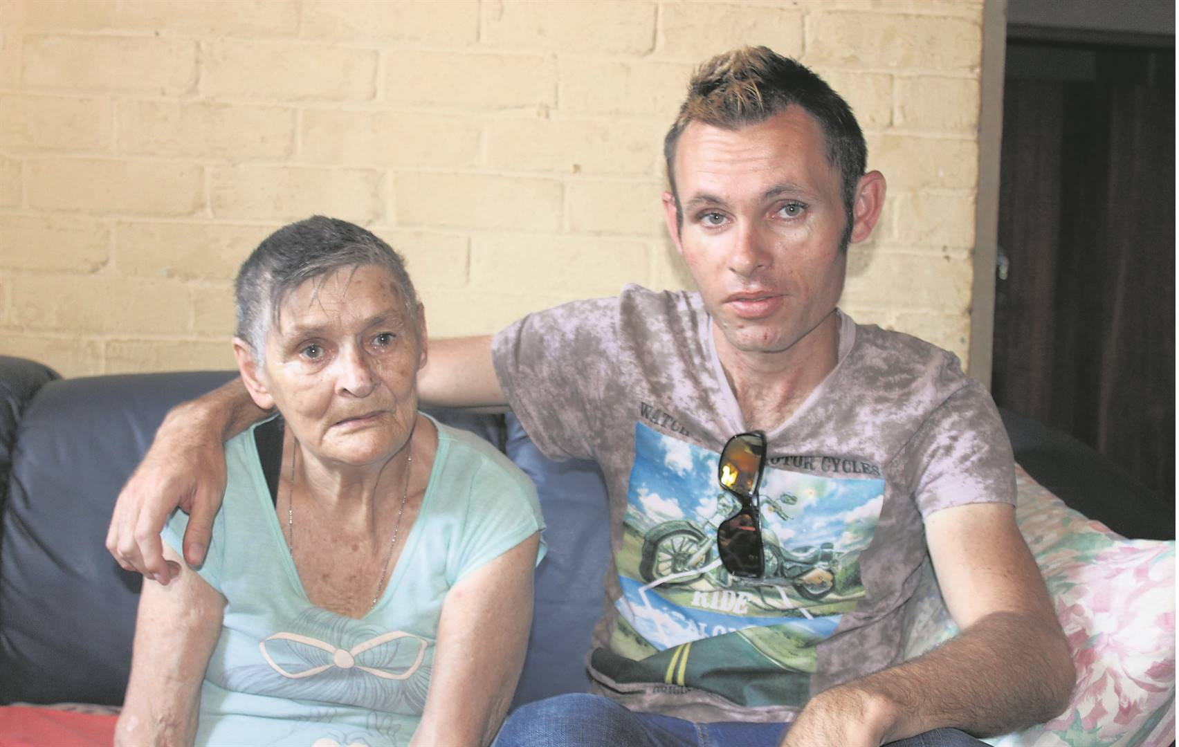 Phyllis Nel (80) and her grandson Alan Ferreira (34), who needs a referral letter to the Greys neurological department for an assessment.PHOTO: NTANDOYENKOSI DLAMINI
