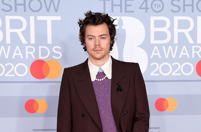 Harry Styles attends The BRIT Awards 2020 at The O2 Arena on 18 February 2020. (Photo by Karwai Tang/WireImage)
