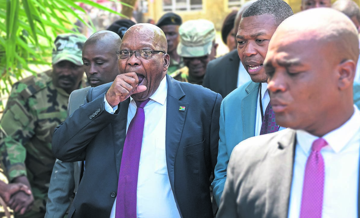 Former president Jacob Zuma leaves the Pietermaritzburg high court on Tuesday after his corruption case was postponed to next year.