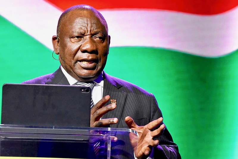 President Cyril Ramaphosa delivers the opening address at the 2020 Business Unity South Africa (BUSA) Business Economic Indaba at the Sandton Convention Centre on January 14. (Photo: GCIS)