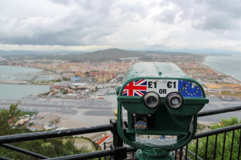 Gibraltar, United Kingdom - May 2016: looking from