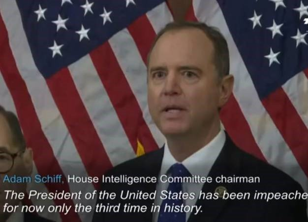 Chair of the House Intelligence Committee, Adam Schiff. (Screen grab, AFP)