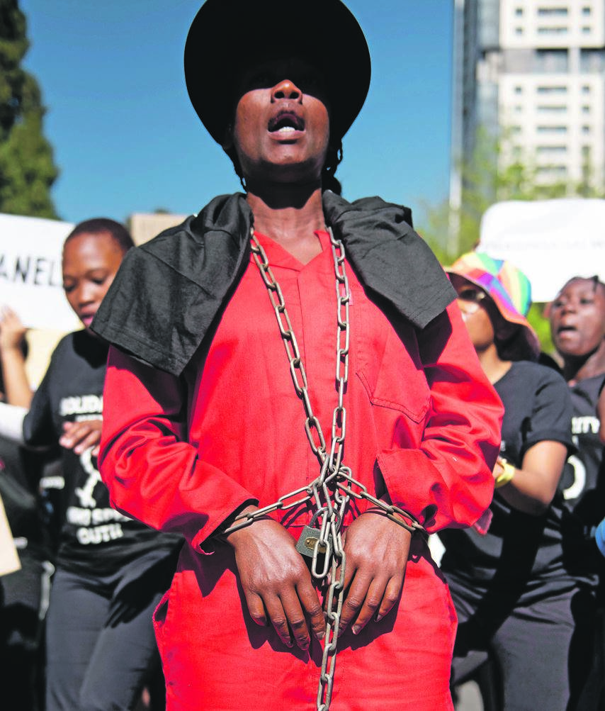 enough is enough Women took part in the #SandtonShutDown march last month to voice their anger against the increasing levels of gender-based violence in South Africa PHOTO: alet pretorius