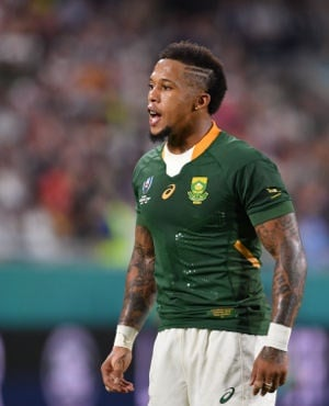 Elton Jantjies looks on during the Rugby World Cup