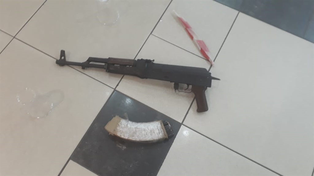 Police recovered an AK47 on the scene. (Supplied)