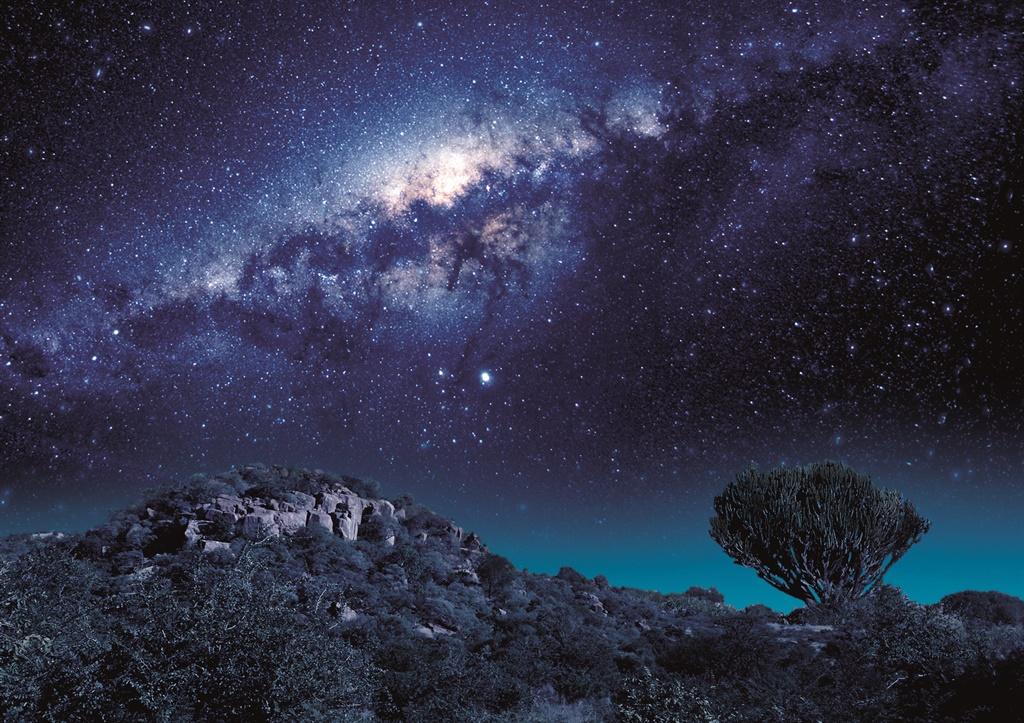 'n Suid-Afrikaanse glimp van die Melkweg soos gesi