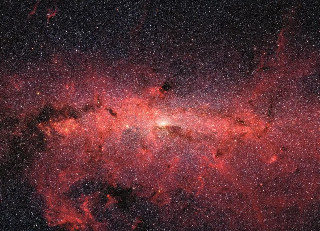 Die sentrum van die Melkweg soos gesien deur Nasa