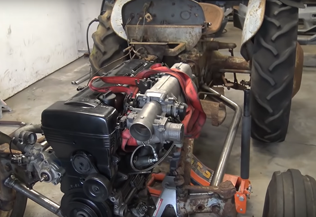 2JZ engine in a tractor