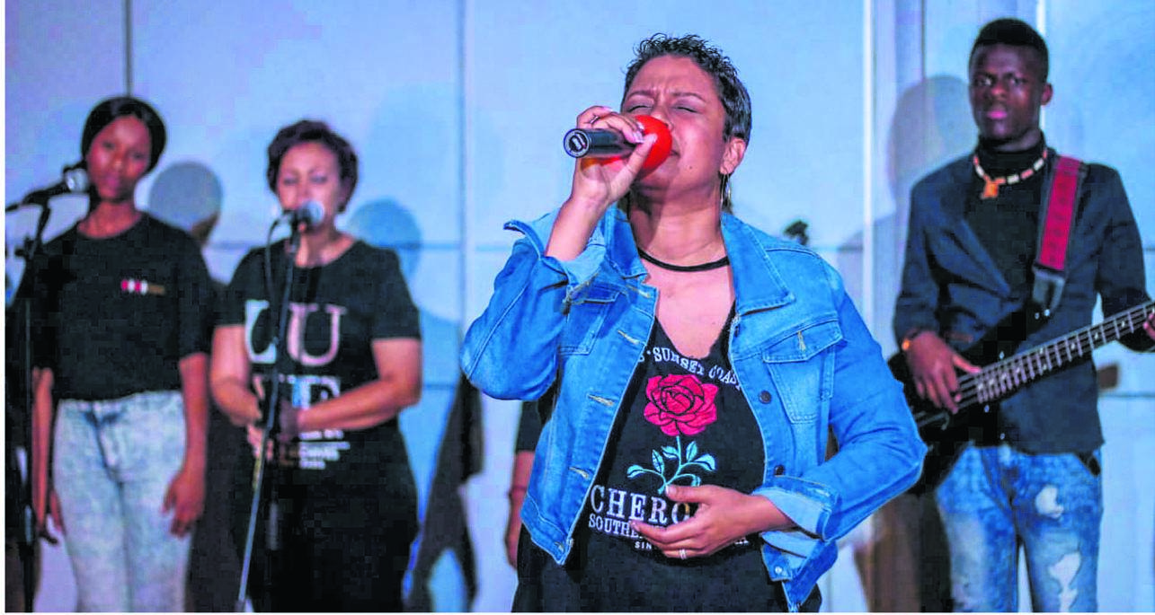 Delana Rawlins performing at one of their sessions.PHOTO: supplied