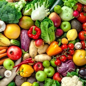 Assortment of  fresh fruits and vegetables