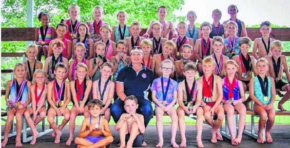 Ribbon Series swimmers from a previous gala. PHOTO: supplied