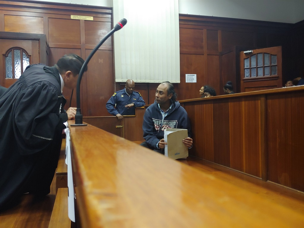 Mohamed Ebrahim, who is accused of kidnapping and murdering nine-year-old Miguel Louw of Sydenham, in the Durban High Court.