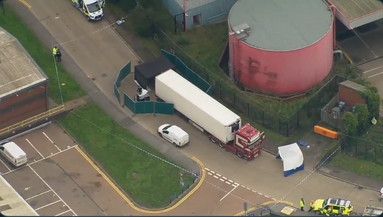 Truck Driver Arrested After 39 Bodies Found In Shipping Container