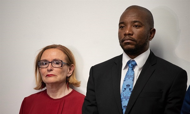 Mmusi Maimane with newly-elected chairperson of the DA's federal council, Helen Zille. (Simon Sonnekus, Netwerk24)