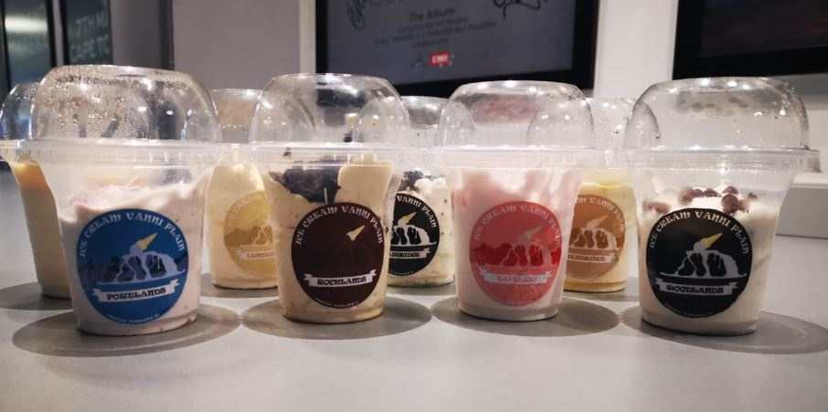 Ice Cream Vanni Plain is available in 8 flavours,