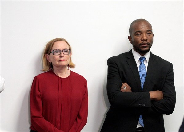 <p>Former DA leader Mmusi Maimane and the party's federal council chairperson Helen Zille are seen during Maimane's resignation announcement at the party's Bruma headquarters in Johannesburg.</p><p>In his speech, Maimane said the DA no longer has his vision of One South Africa for All. </p><p>Maimane's resignation was followed by that of former Nelson Mandela Bay Metro mayor Athol Trollip. (Veli Nhlapo, Gallo Images, Sowetan)</p>