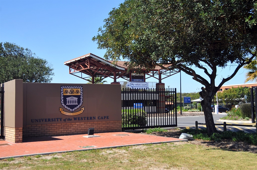 Entrance at the University of Western Cape. (Ziyaad Douglas/Gallo Images)