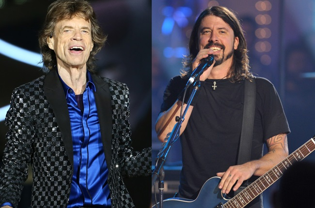 Mick Jagger, Dave Grohl