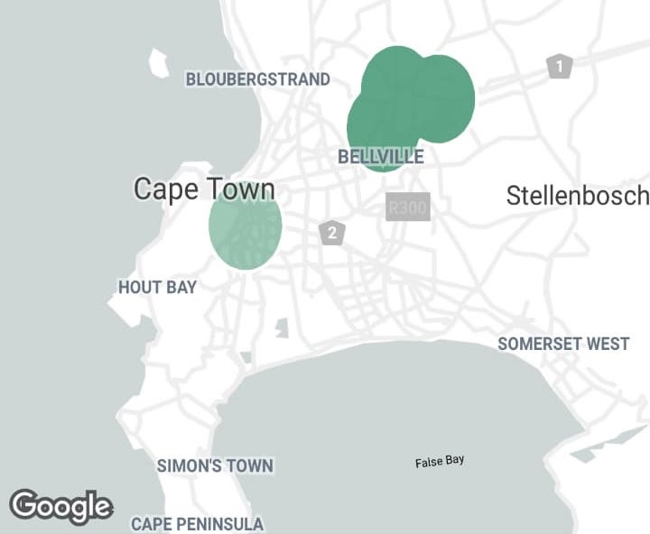 Sixty60 in Cape Town map