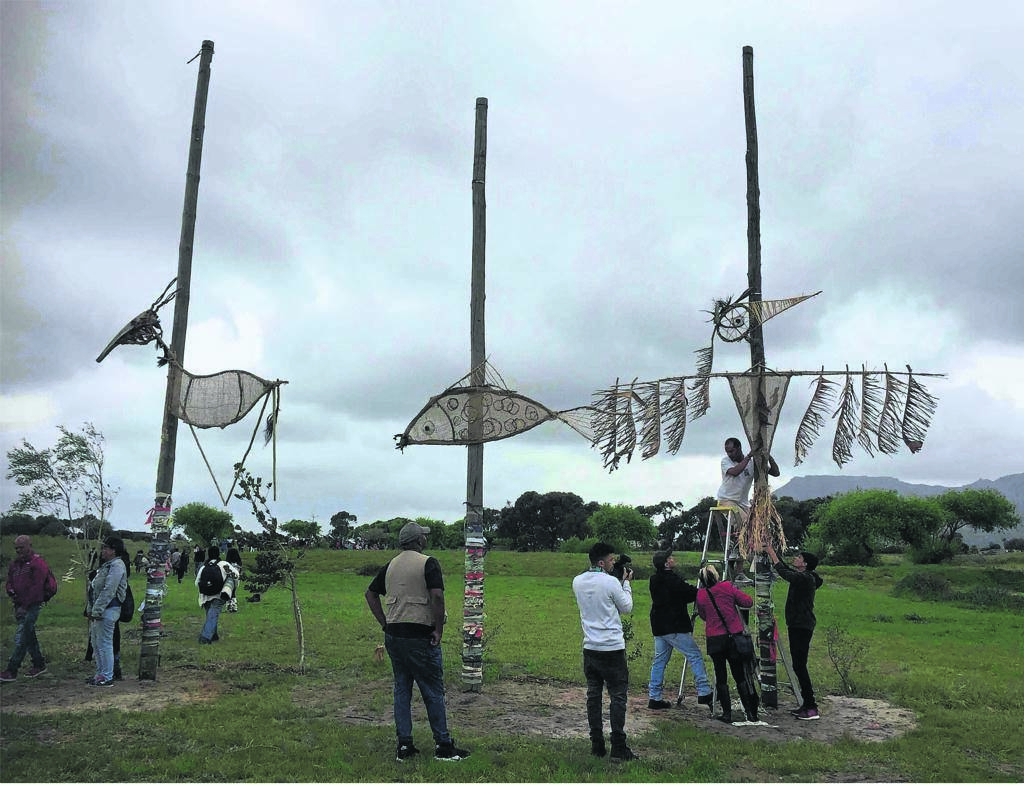 Guardians of the earth, waters and sky; created from natural materials by learners before the Flight of Dreams parade last month.        PHOTO: Princess vlei forum