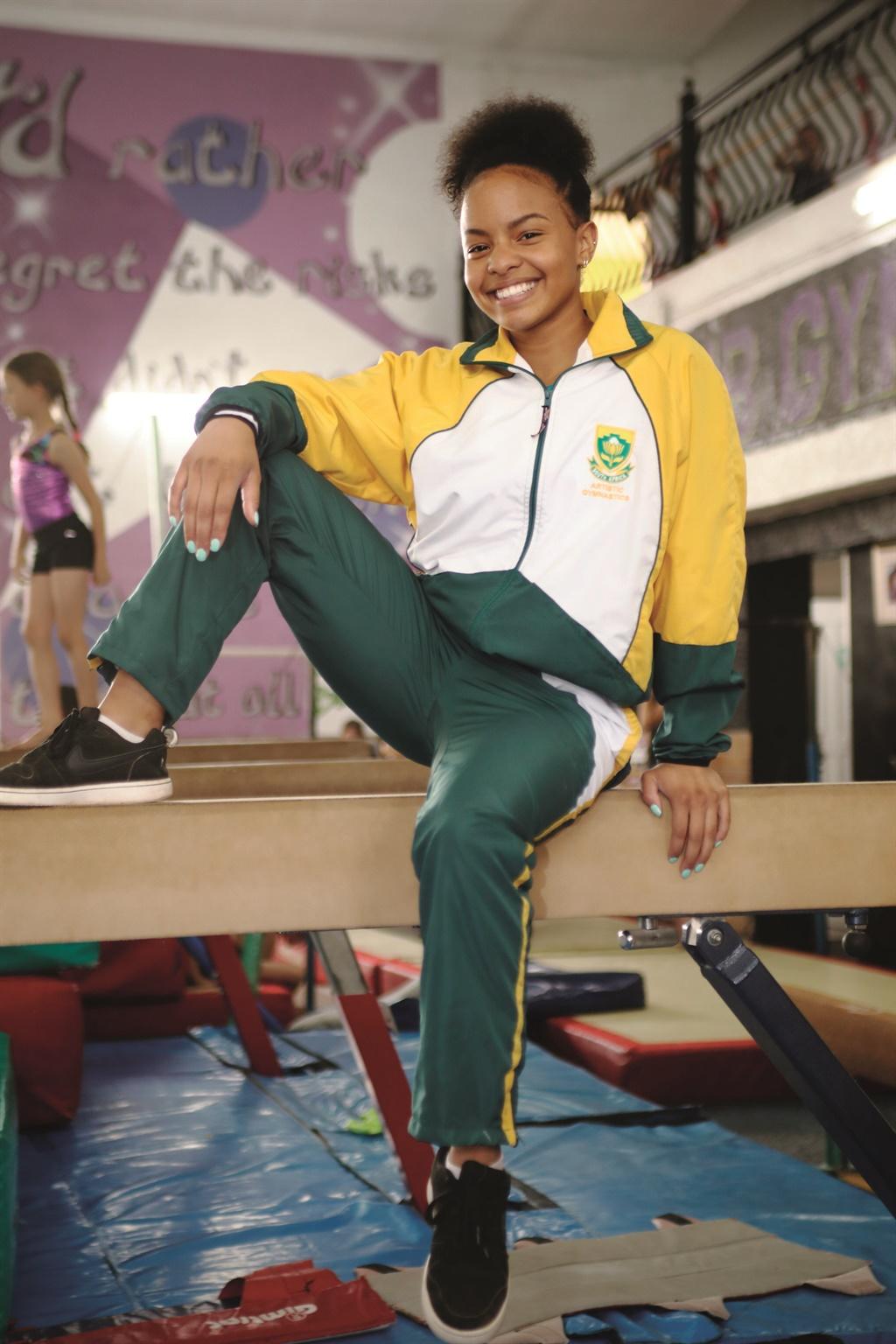 Suid-Afrika se gimnastieksensasie, Caitlin Rooskra