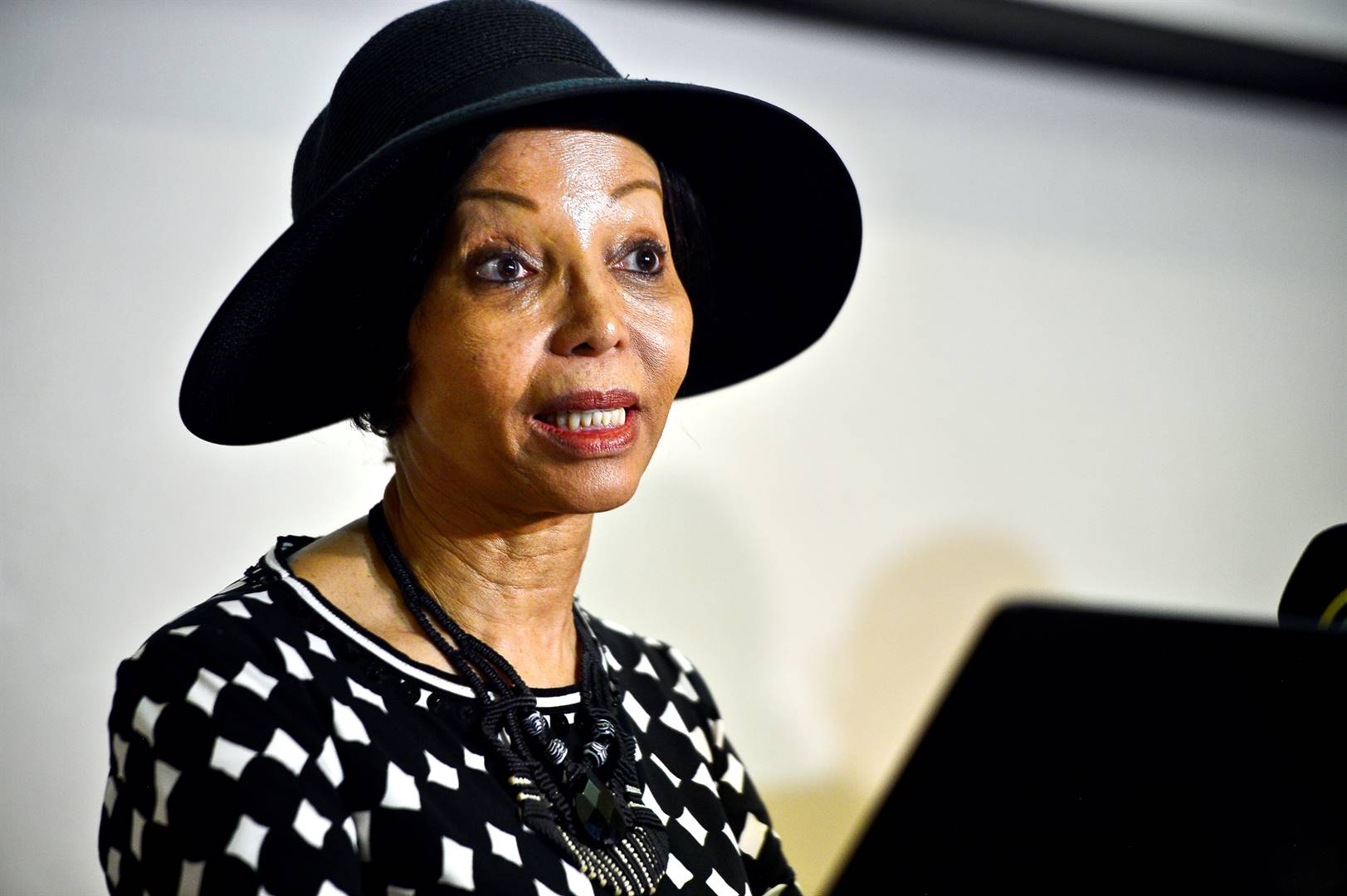 Bridgette Motsepe-Radebe speaking on false allegations of an affair with the former Botswana president Ian Khama and her alleged involvement in a plot to overthrow the country's president. Picture: Cebile Ntuli/City Press