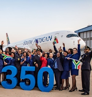 SAA welcomes plane