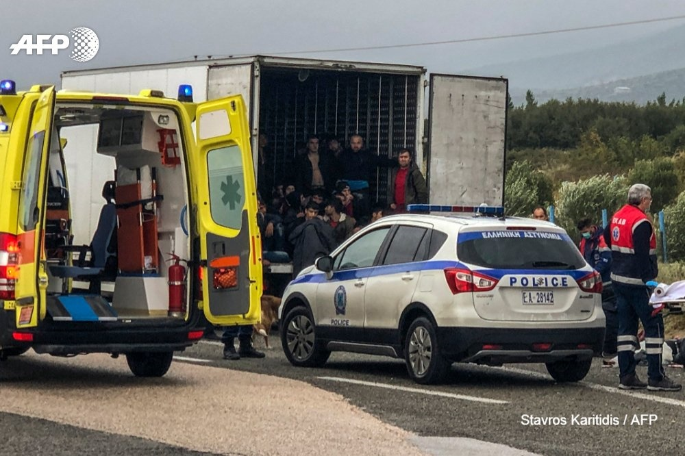 News24.com   WATCH   41 migrants found alive in refrigerated truck in Greece