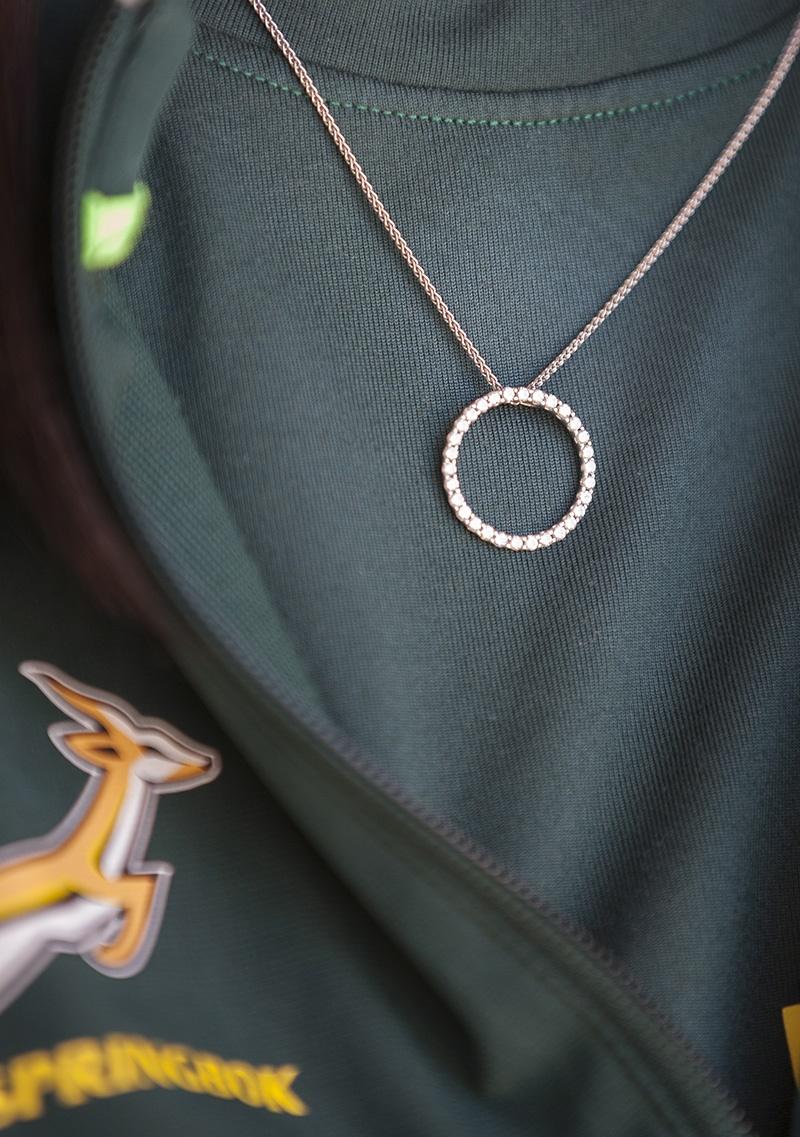 Die diamanthangertjie wat sy vir haar 150ste toets