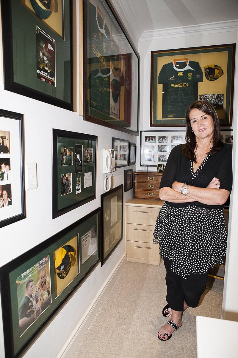 Annelee Murray span uit by haar huis in Nuweland,