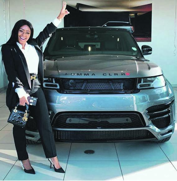 Girls with big machine, Boitumelo Thulo next to her Range Rover Sport Lumma Design. Picture: instagram