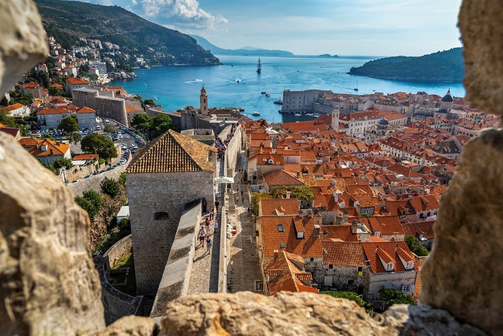 The Old City of Dubrovnik situated on the Dalmatia