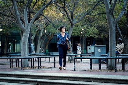 Rolanda Marais as Milla Strachan in 'Trackers'