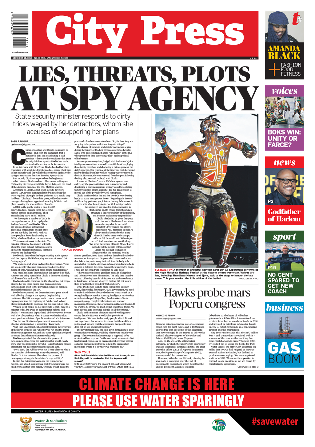 In your City Press today, November, 10 2019