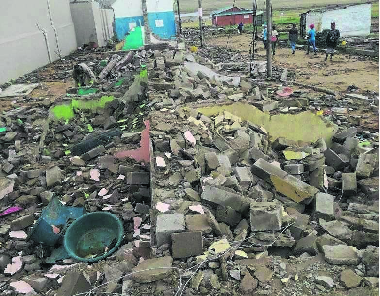 Some of the houses that were demolished in Pomeroy. photo: SUPPLIED