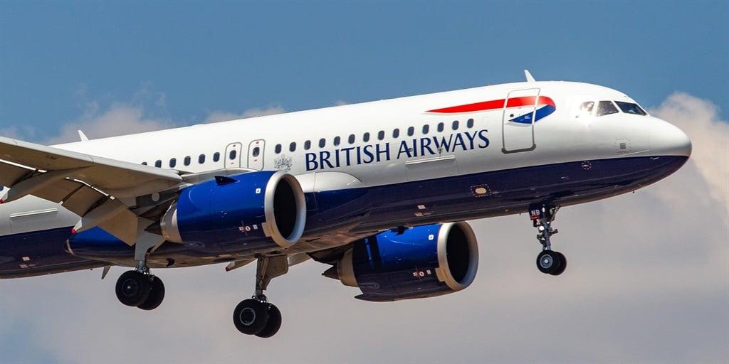 A British Airways plane.