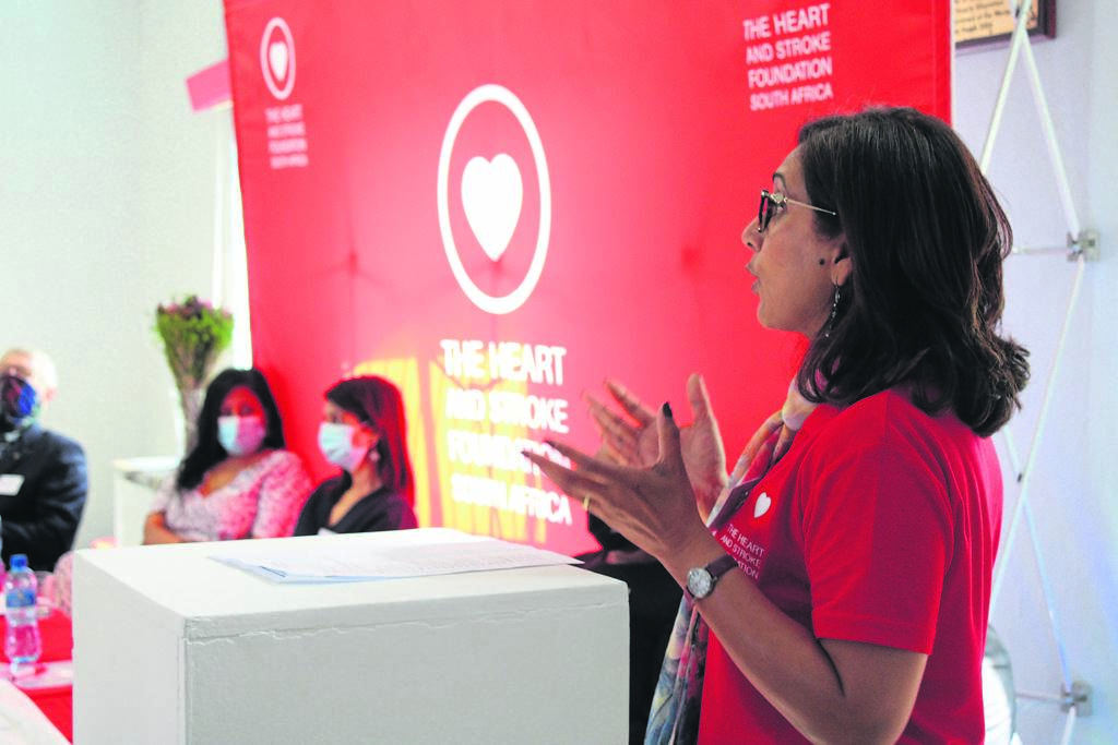 Professor Pamela Naidoo speaking during the launch of The Hear and Stroke first mobile clinic in Khayelitsha on Monday 12 April. PHOTO: MZWANELE MKALIPI