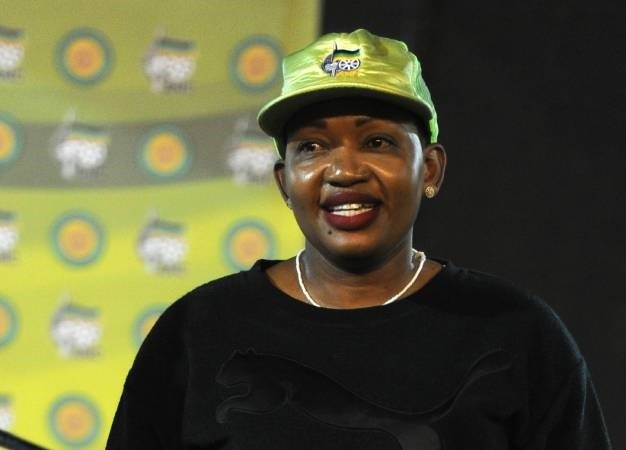 Thandi Mahambehlala is seen during the African National Congress Youth League rally in Germiston. (Felix Dlangamandla, Gallo Images, Beeld, file)