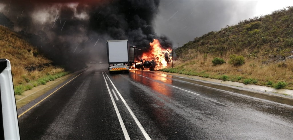 PICS | Truck driver burnt beyond recognition in horror Western Cape crash