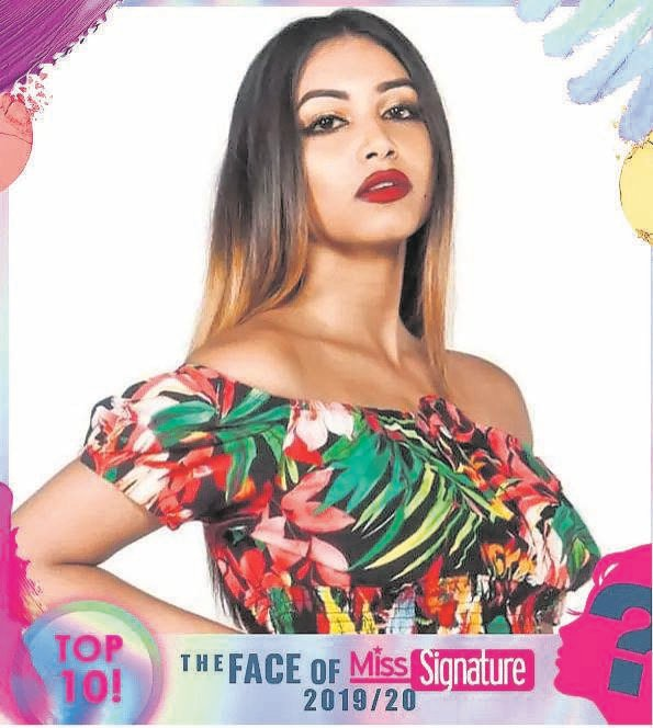 Denelle Ince is one of the top 10 finalists for the face of Miss Signature 2019.PHOTO: SUPPLIED