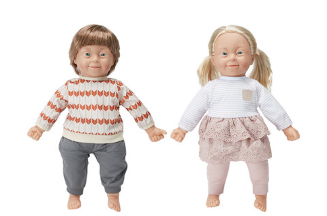 Both dolls named Charlie, the dolls will now join the Inclusion Doll range launched in Kmart stores in Australia and New Zealand (Photo: KMart)