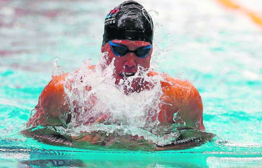 Ace Madibaz swimmer Alaric Basson who hails from Uitenhage, says the top level of competition he witnessed at the World Championships in South Korea has been an inspiration for his long-term ambitions.                                       Photo:SUPPLIED