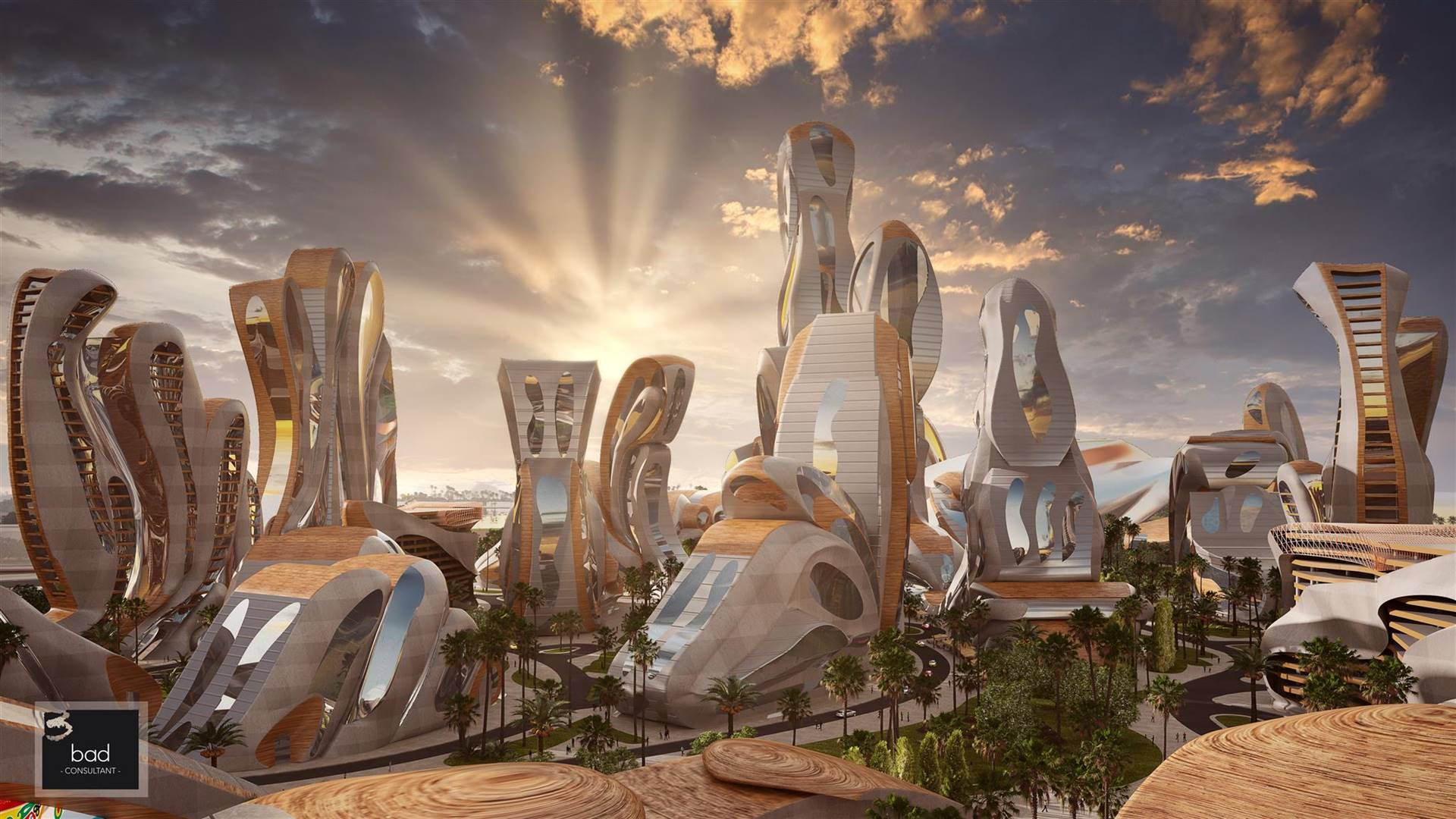 An image of Akon City created by the architect. Picture: Hussein Bakrr / BAD Consult