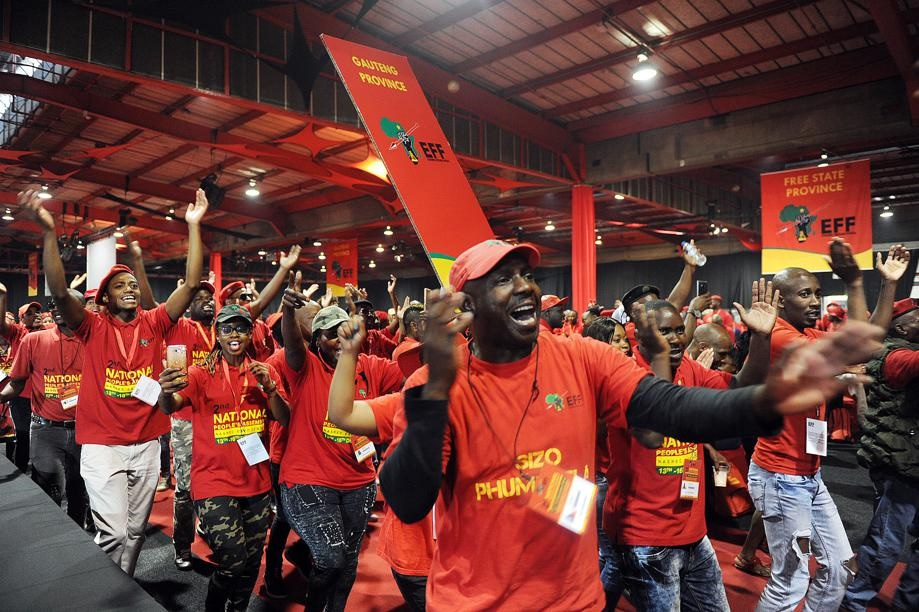 EFF members at the party's National People's Assembly. Picture: Jabu Khumalo