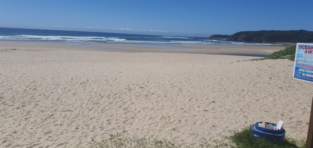 Eastern Cape beaches were empty of holiday makers on Wednesday.