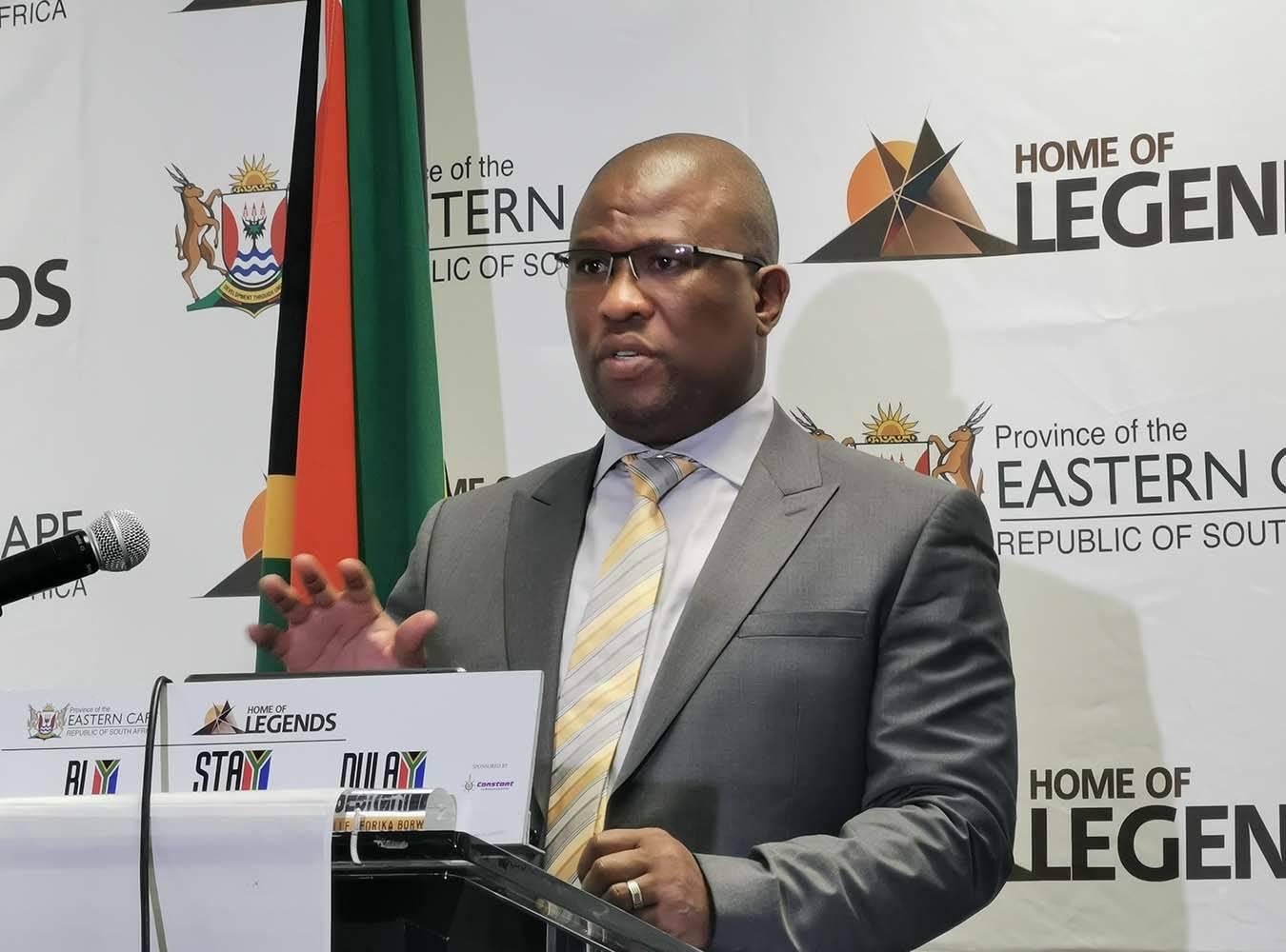 Eastern Cape Premier Oscar Mabuyane.