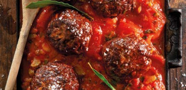 Traditional South African meatballs with chunky to