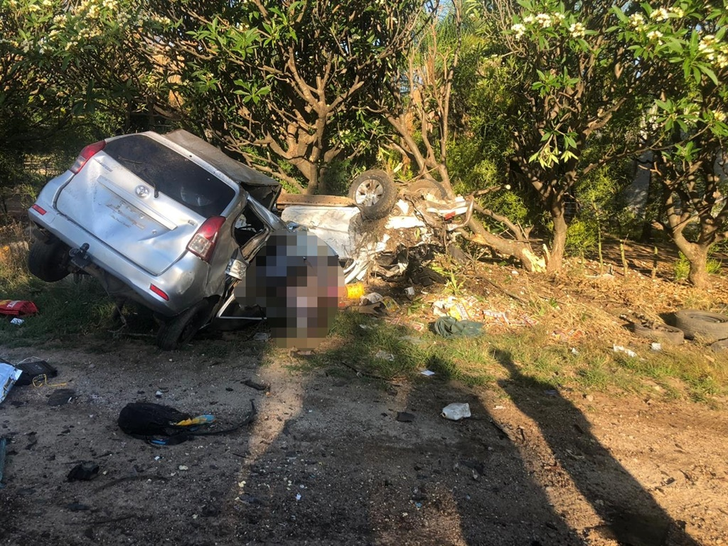 The scene of the collision which claimed the lives of nine people on Saturday afternoon (Supplied/SAPS)
