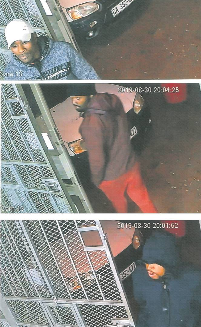 These three men were caught on CCTV cameras at the time of the robbery.