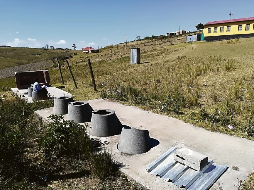 """The development of """"water smart"""" toilets could be a sustainable solution to national sanitation challenges and help get rid of pit toilets such as these"""